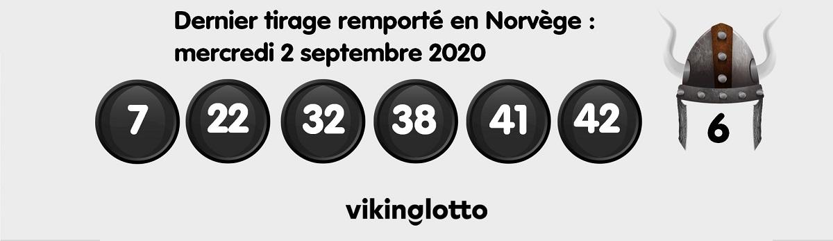 Dernier tirage remporté : tirage Viking Lotto du 2 septembre 2020