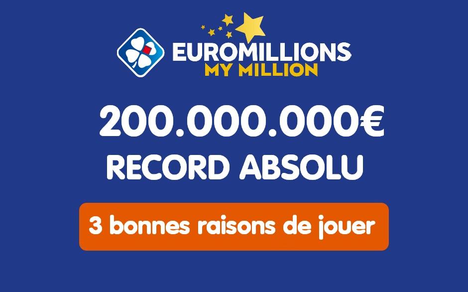 3 bonnes raisons de jouer a Euromillions ce 4 décembre 2020