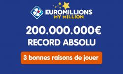 Euromillions : 3 bonnes raisons pour lesquelles vous devez absolument jouer au tirage de 200 millions d'euros
