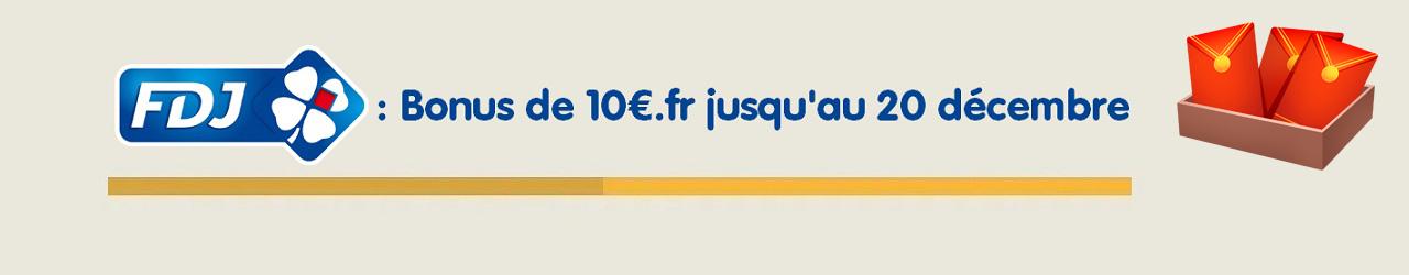 Bonus 10€ offert sur FDJ.fr