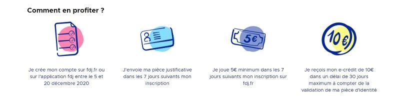Bonus FDJ.fr : 10 euros offert