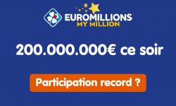 Jackpot record Euromillions à 200 millions d'euros : vers une participation historique pour ce tirage