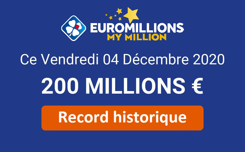 Record Euromillions : 200 millions d'euros