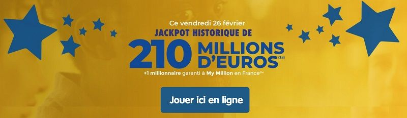 jouer a Euromillions ce vendredi 26 février 2021