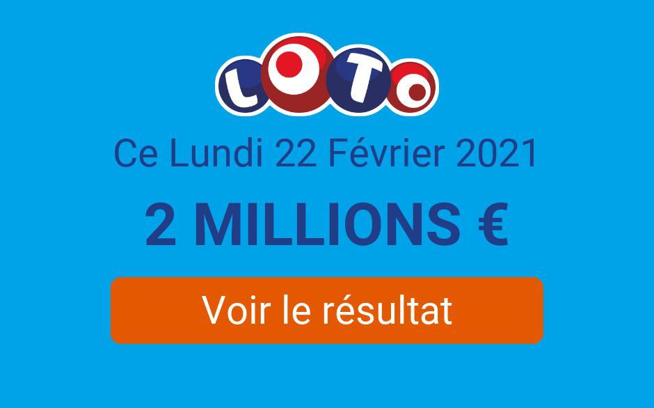 Résultat Loto FDJ du lundi 22 février 2021 : les tirages du jour sont en ligne - Tirage Gagnant