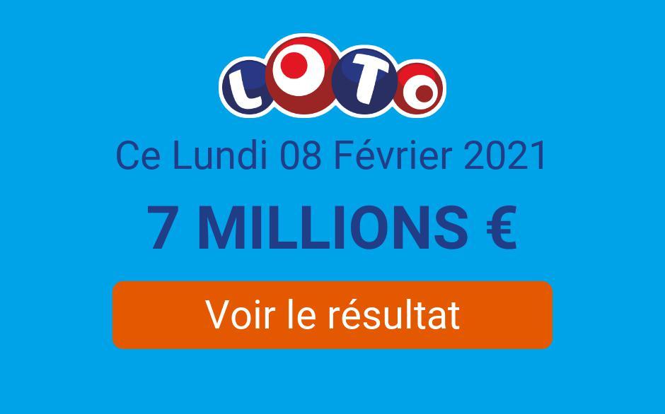 Résultat Loto FDJ du lundi 8 février 2021 : 9 joueurs remportent 17 200€ au tirage - Tirage Gagnant