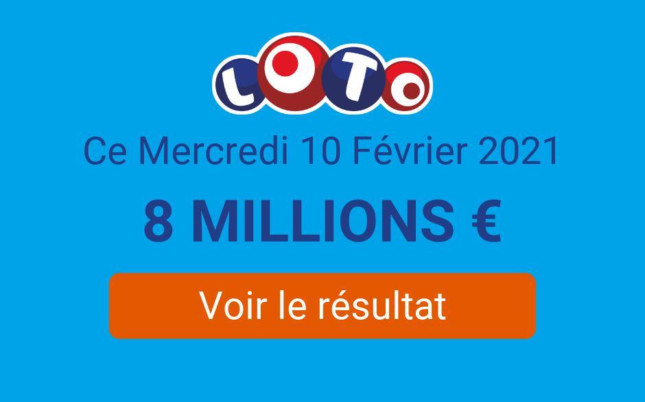 Résultat Loto FDJ du mercredi 10 février 2021 : le tirage est en ligne sans millionnaire - Tirage Gagnant