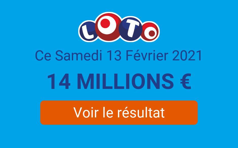 Résultat Loto FDJ du samedi 13 février 2021 : 11 gagnants remportent 28 000€ - Tirage Gagnant