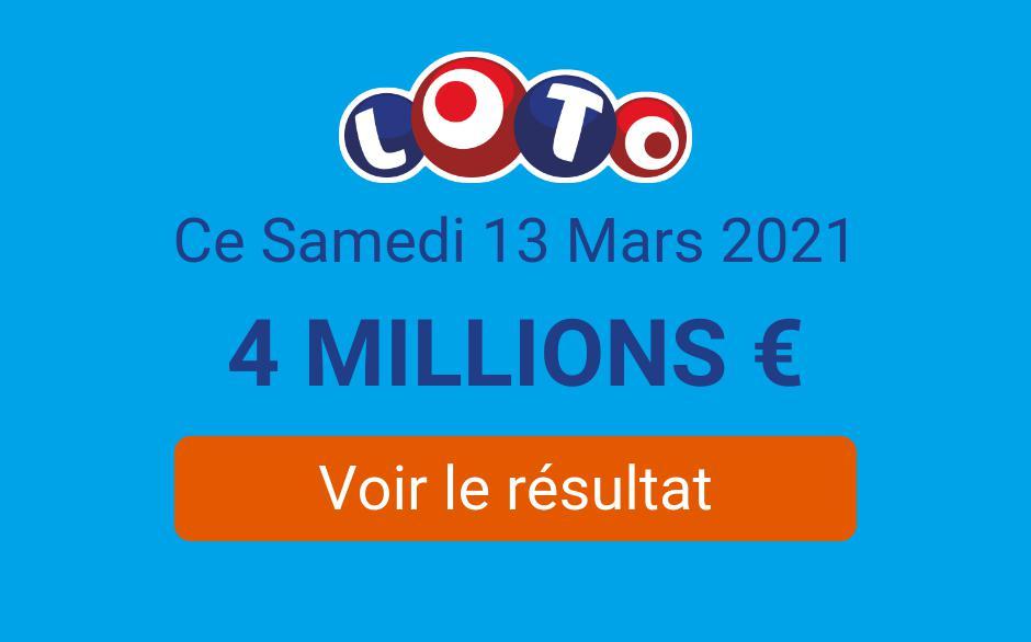 Résultat Loto FDJ du samedi 13 mars 2021 : les tirages sont en ligne - Tirage Gagnant