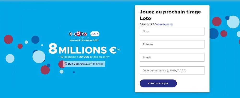 Wednesday, October 13, 2021 Lotto FDJ result: online draw